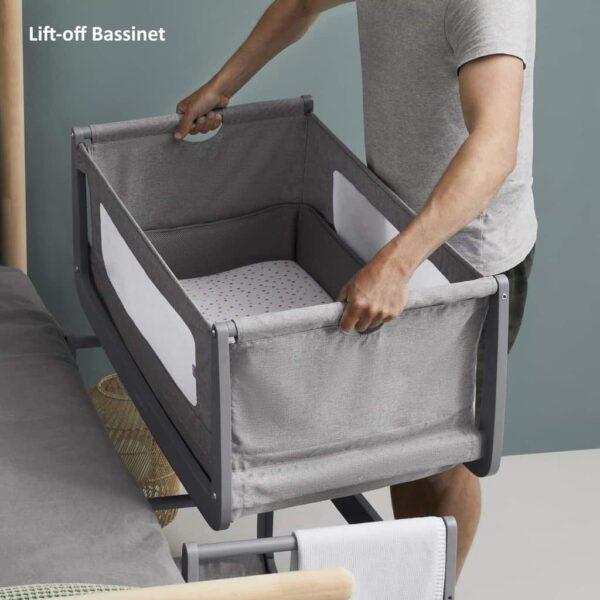 Cribs & Next2Me Cribs SnuzPod4 Bedside Crib Urban Pitter Patter Baby NI 10