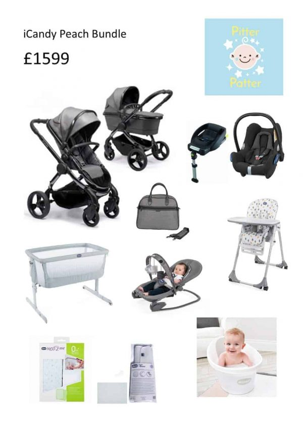 Bundle Deals Pitter Patter iCandy Peach Bundle Pitter Patter Baby NI 4