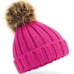 Infant Fur Pom Pom hat