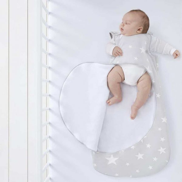Blankets & Sleeping Bags SnuzPouch Sleeping Bag – 2.5 TOG – White Stars Pitter Patter Baby NI 7