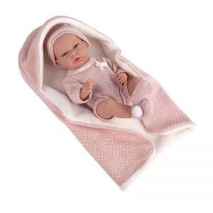 40cm Reborn Elegance Andie Doll and Blanket – Pink