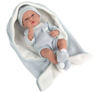 Dolls Prams & Dolls 40cm Reborn Elegance Andie Doll and Blanket – Blue Pitter Patter Baby NI