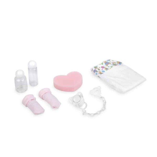 Dolls Prams & Dolls Arias Doll Accessory Set – Pink Pitter Patter Baby NI 5