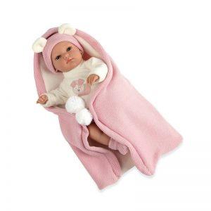 33cm Elegance Erea Doll and Wrap – Pink