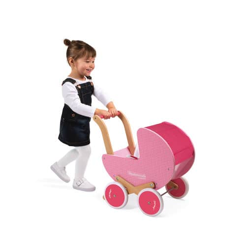 Dolls Prams & Dolls MADEMOISELLE DOLL'S PRAM (WOOD) Pitter Patter Baby NI 4