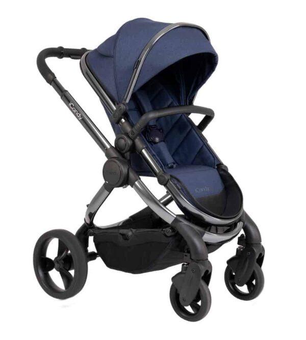 Pushchairs & Prams Peach Pushchair & Carrycot Phantom Navy Twill Pitter Patter Baby NI 4