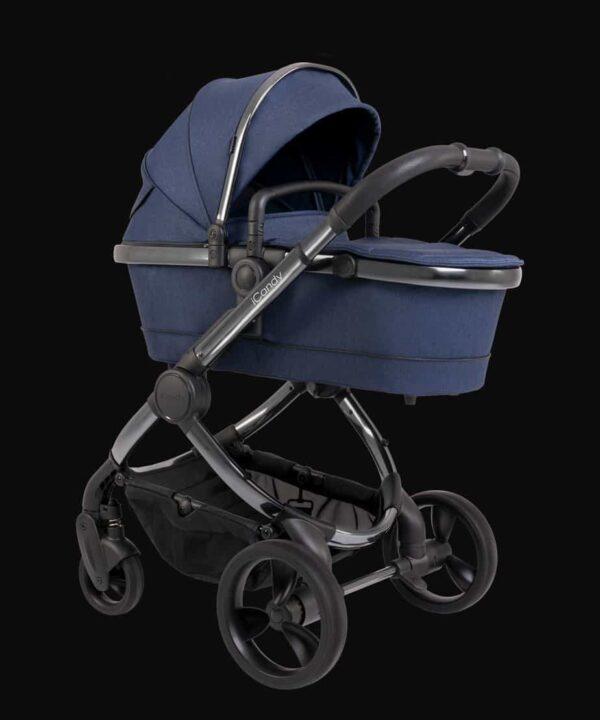 Pushchairs & Prams Peach Pushchair & Carrycot Phantom Navy Twill Pitter Patter Baby NI 6
