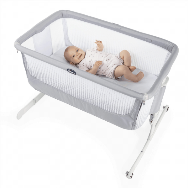 Cribs & Next2Me Cribs Chicco Next2Me Air Bedside Crib Sleeptime Bundle Pitter Patter Baby NI 5