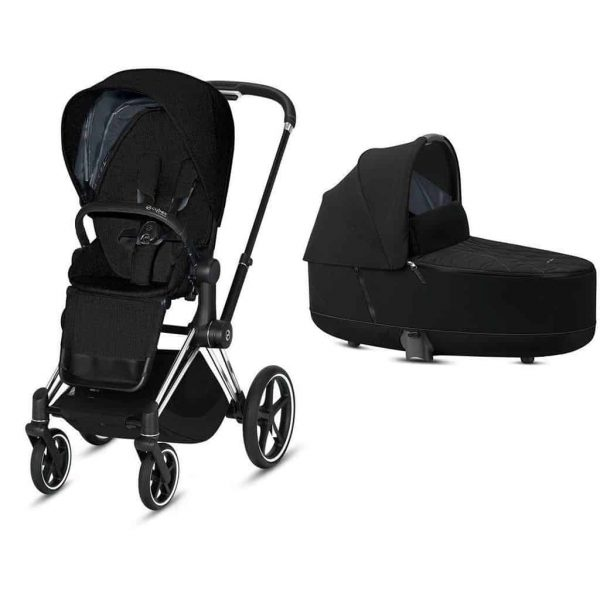 Travel Systems Cybex Priam Chrome chassis – deep black Pitter Patter Baby NI 5