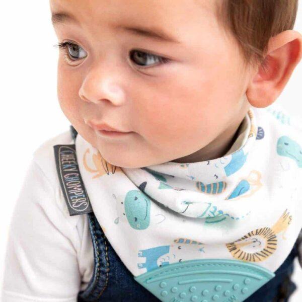 Teething Neckerchew Teething Dribble Bib Pitter Patter Baby NI 4