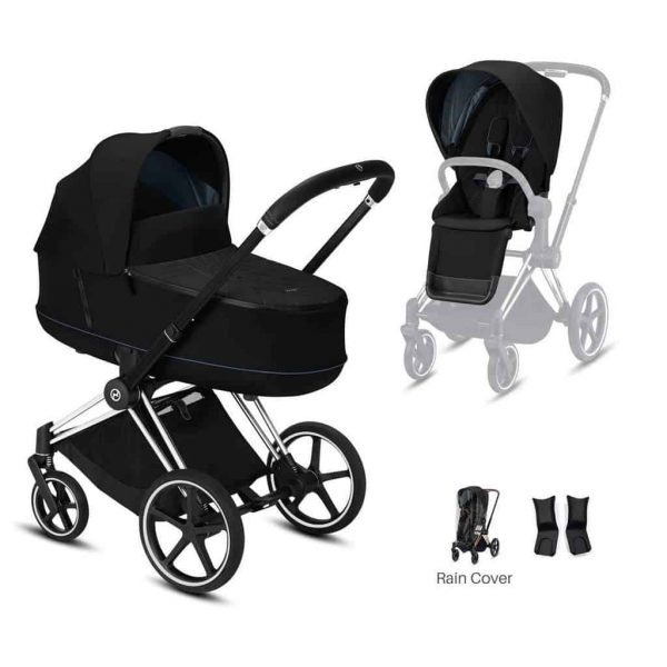 Travel Systems Cybex Priam Chrome chassis – deep black Pitter Patter Baby NI 4
