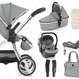 Egg Platinum Bundle with egg shell carseat & base