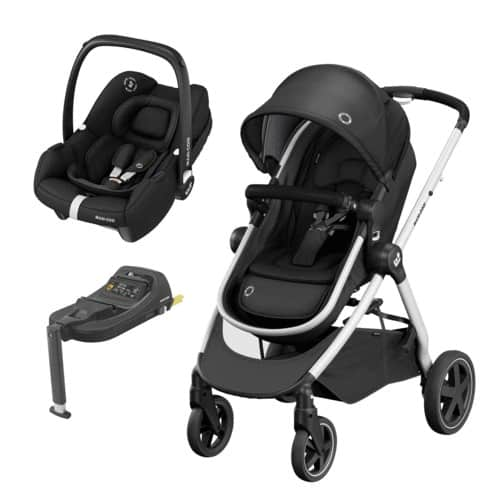Maxi Cosi Zelia 2 Travel System with Tinca Carseat & Isofix base Pitter Patter Baby NI 4
