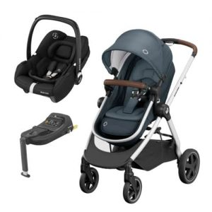 Zelia 2 Travel System Graphite with Tinca Carseat & Isofix base