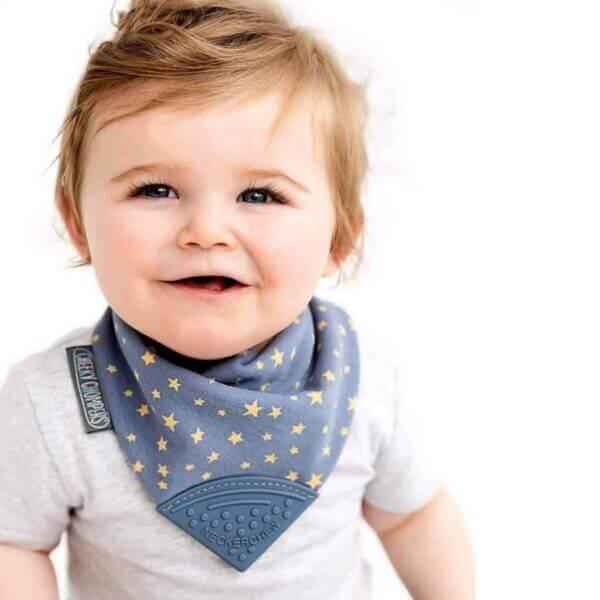 Teething Neckerchew Teething Dribble Bib Pitter Patter Baby NI 5