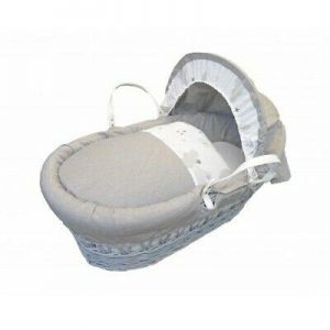 Moses Baskets & Stands Cuddles Collection White wicker sweet dreams Pitter Patter Baby NI