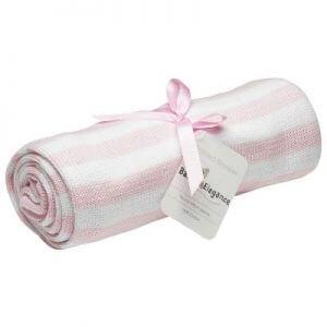 Pearl Knit Blanket – Pink