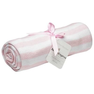 Blankets & Sleeping Bags Pearl Knit Blanket – Pink Pitter Patter Baby NI 4