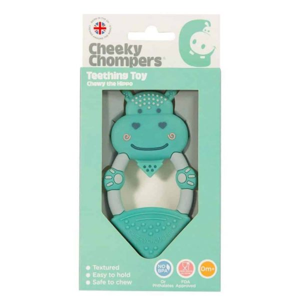 Teething Chewy the Hippo Teether Pitter Patter Baby NI 4
