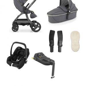 Travel Systems Egg 2 Stroller & Carrycot with Tinca Carseat & Base Pitter Patter Baby NI