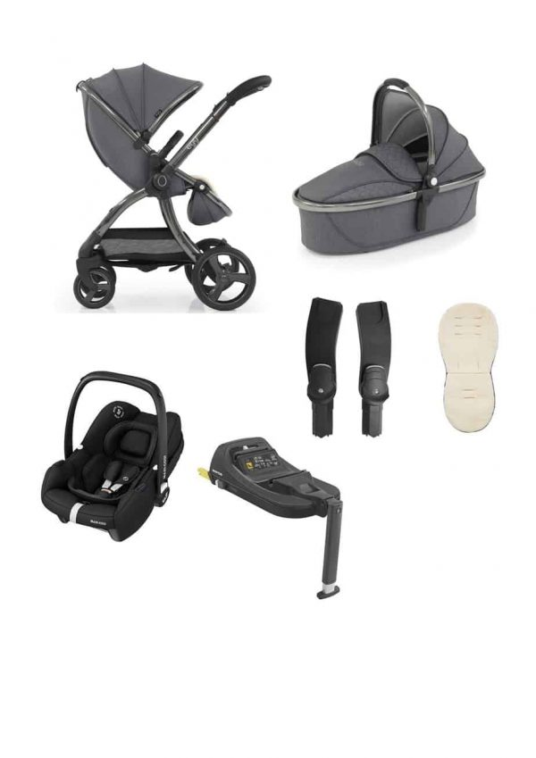 Egg Egg 2 Stroller & Carrycot with Tinca Carseat & Base Pitter Patter Baby NI 4