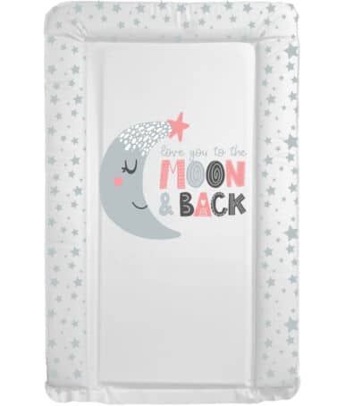 Baths & Changing Mats Love You To The Moon Pink Changing mat Pitter Patter Baby NI 4