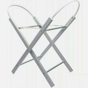 Wooden moses basket stand – grey