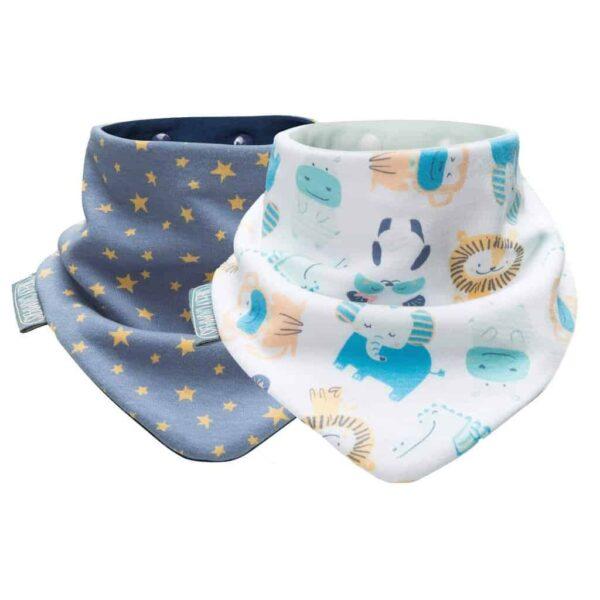 Teething Midnight Stars and Cheeky Animals Neckerbibs Pitter Patter Baby NI 4