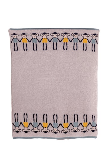 Blankets & Sleeping Bags CHEEKY MONKEY KNITTED BLANKET Pitter Patter Baby NI 5