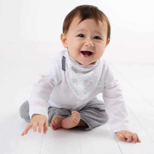 Teething Stars & Hippo Muslin Neckerbibs Pitter Patter Baby NI 8