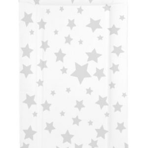 White with Grey stars changing mat