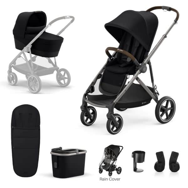 Travel Systems Cybex Gazelle S 7 Piece Bundle – Taupe Frame Pitter Patter Baby NI 7