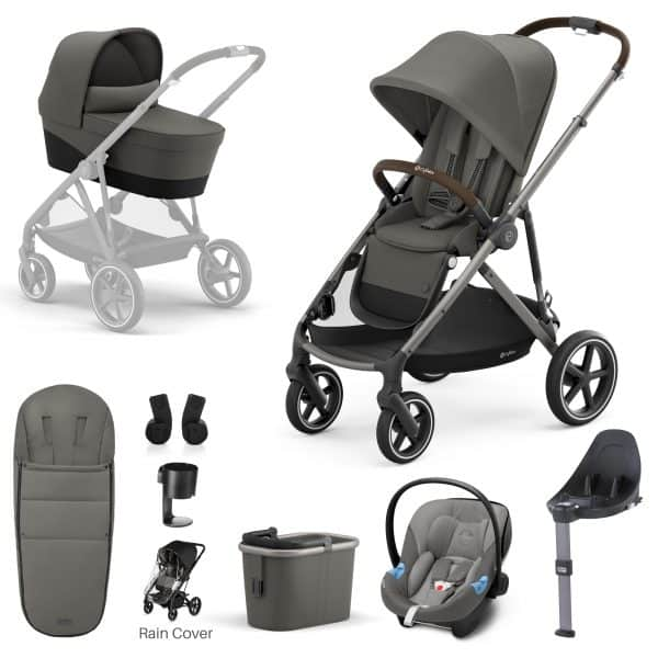 Travel Systems Cybex Gazelle S 9 Piece Bundle – Taupe Frame Pitter Patter Baby NI 9