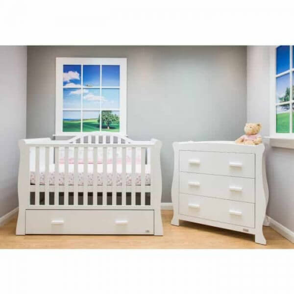 Cots, Cotbeds & travel cots Oslo Sleigh Cotbed Pitter Patter Baby NI 5