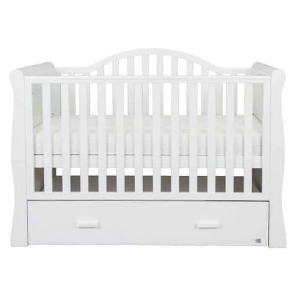 Cots, Cotbeds & travel cots Oslo Sleigh Cotbed Pitter Patter Baby NI 4
