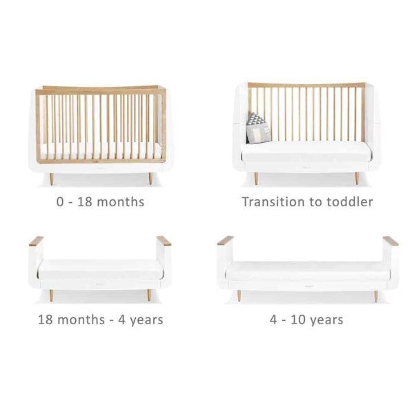 Cots, Cotbeds & travel cots SnuzKot Skandi Cot Bed Natural Pitter Patter Baby NI 4