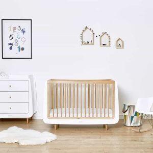 Cots, Cotbeds & travel cots SnuzKot Skandi Cot Bed Natural Pitter Patter Baby NI