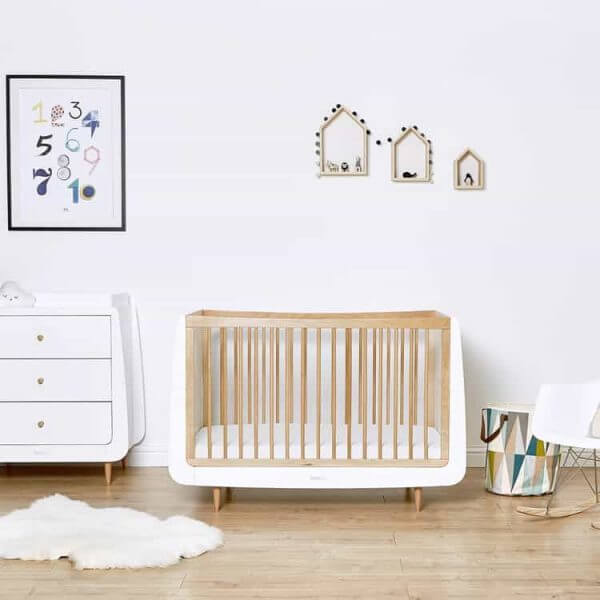 Cots, Cotbeds & travel cots SnuzKot Skandi Cot Bed Natural Pitter Patter Baby NI 3