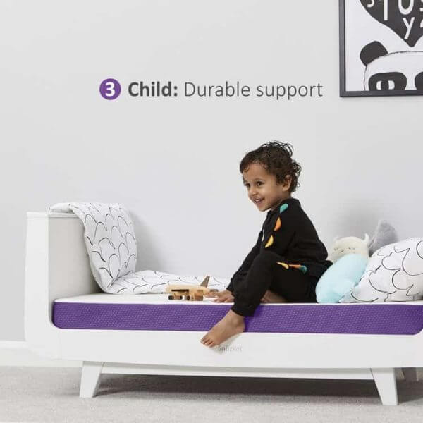 Mattresses SnuzSurface Adaptable Cot Bed Mattress SnuzKot Pitter Patter Baby NI 7
