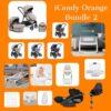 iCandy iCandy Orange Bundle with Next2me Crib Pitter Patter Baby NI 3