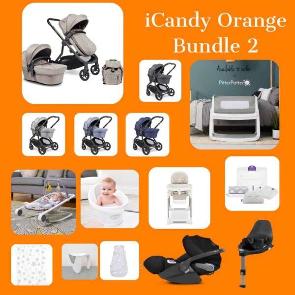iCandy iCandy Orange Bundle with Snuzpod 4 Pitter Patter Baby NI 3