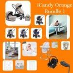iCandy iCandy Orange Bundle with Next2me Crib Pitter Patter Baby NI 2
