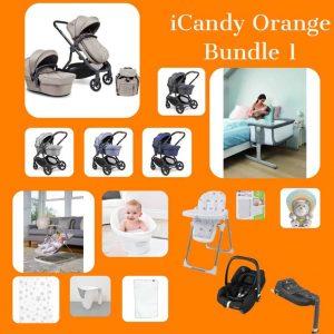 iCandy iCandy Orange Bundle with Next2me Crib Pitter Patter Baby NI