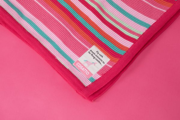 Blankets & Sleeping Bags Cosatto Knitted Stripe Blanket – Pinks Pitter Patter Baby NI 5