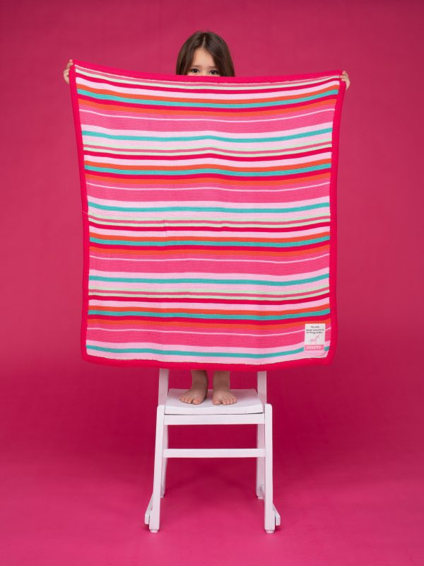 Blankets & Sleeping Bags Cosatto Knitted Stripe Blanket – Pinks Pitter Patter Baby NI 6