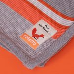 Blankets & Sleeping Bags Cosatto Knitted Stripe Blanket – Grey/Orange Pitter Patter Baby NI 4