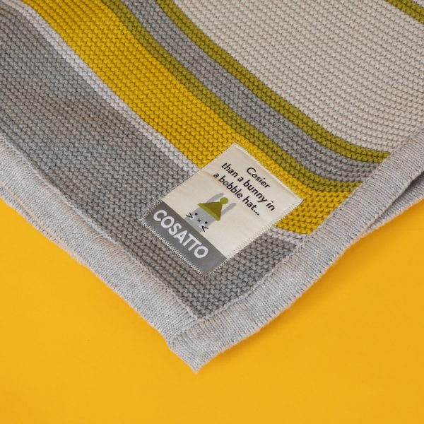 Blankets & Sleeping Bags Cosatto Knitted Stripe Blanket – Grey/Yellow Pitter Patter Baby NI 5