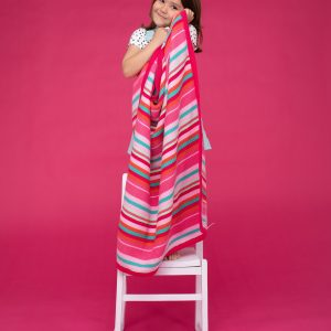 Blankets & Sleeping Bags Cosatto Knitted Stripe Blanket – Pinks Pitter Patter Baby NI