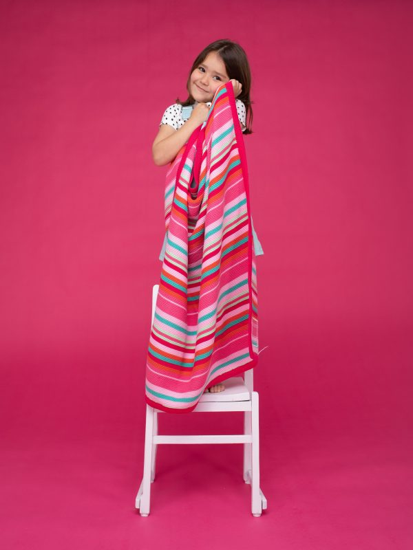 Blankets & Sleeping Bags Cosatto Knitted Stripe Blanket – Pinks Pitter Patter Baby NI 4