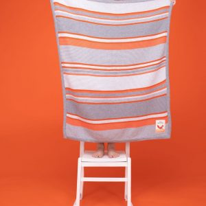 Blankets & Sleeping Bags Cosatto Knitted Stripe Blanket – Grey/Orange Pitter Patter Baby NI